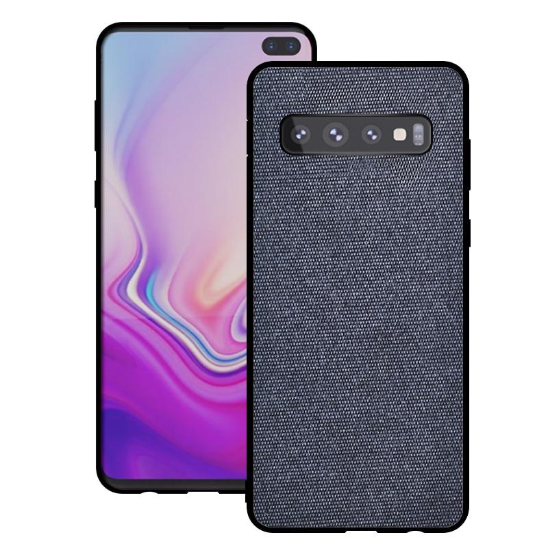 Funda de tela de algodón, funda para Samsung Galaxy S20 Plus Ultra S10 S10E S9 S8 Note 8 9 Note 10 A40 A50 A70 A51 A71 Slim