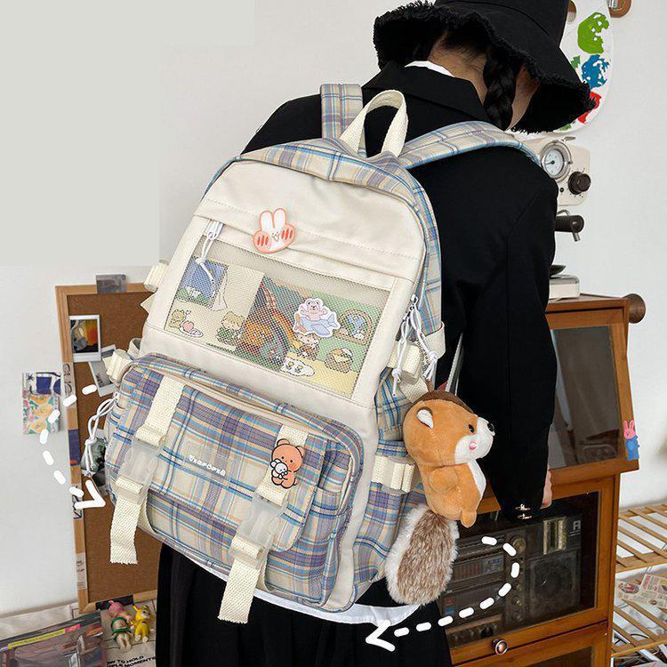feminine backpack striped women canvas backpack teenage backpacks for teen girls teenagers bagpack youth female mochila feminina Backpack Women Plaid Print Lovely Backpacks Mochila Feminina Bolsos Women Backpack Bagpack School Bags For Teenage Girls Mochila