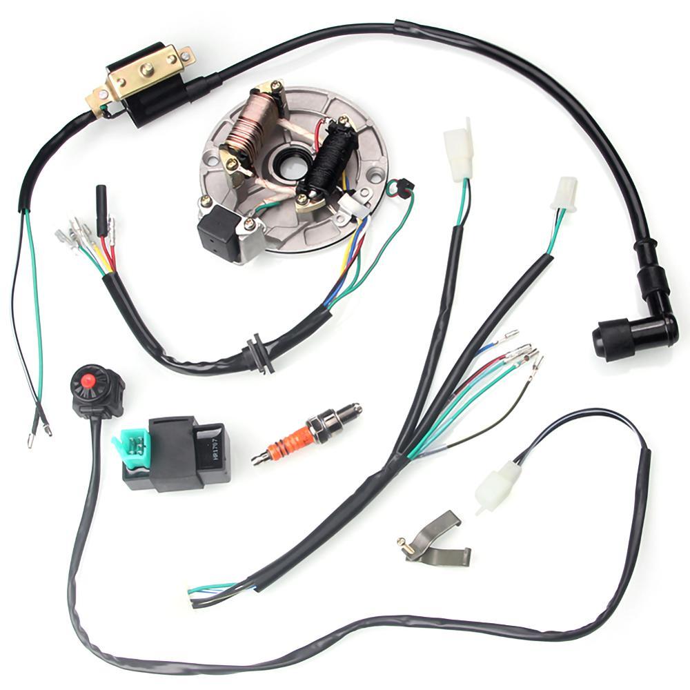 Mazo de cables de 4 tiempos para motocicleta, mazo de cables, bobina CDI para moto de cross de arranque de 50-125cc