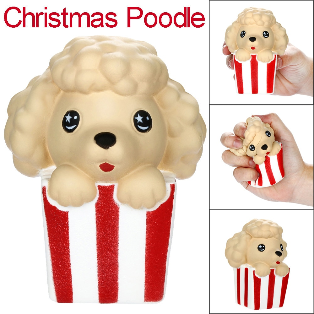 New Squishies Cute Christmas Poodle Slow Rising Fruits Scented Stress Relief Toy Kawaii Decorative Ornaments Детские Игрушки