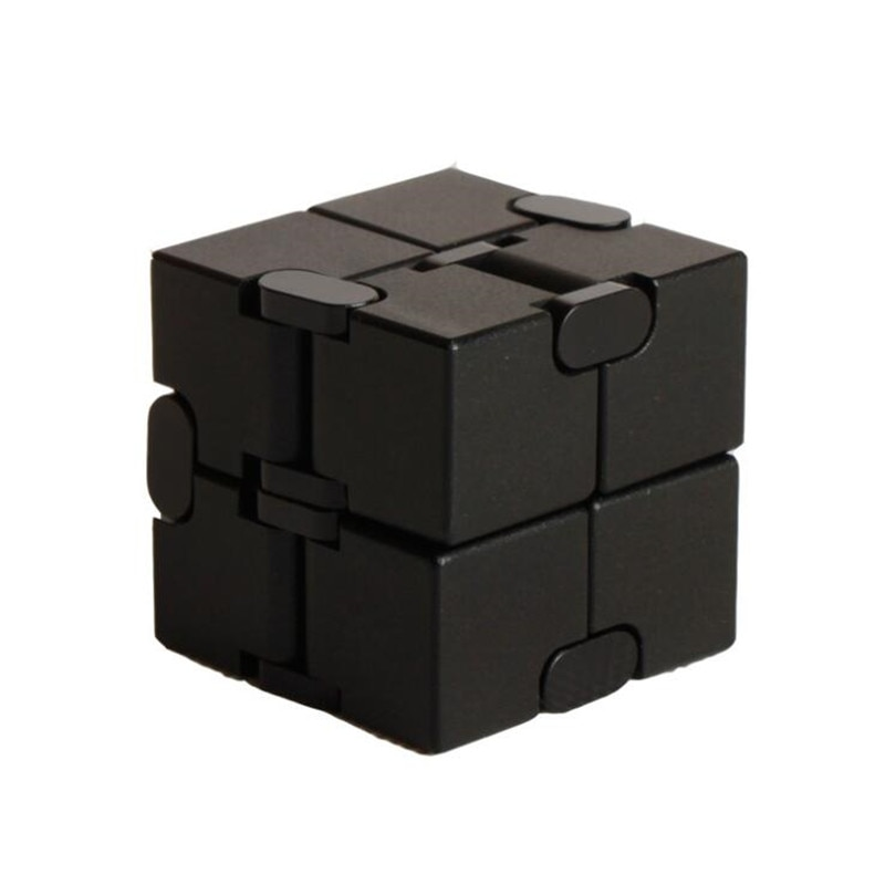 Top Quality Stress Relief Toy 100% Aluminum Alloy Metal Infinity Cube Portable Decompresses Relax Toys For Children Adults enlarge
