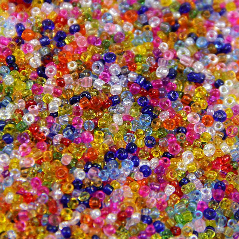 2mm Mini Glass Bead Transparent Crystal Czech Seed Glass Spacer Beads For Jewelry Make Handmade Garments DIY Sewing Craft