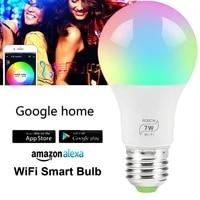 Ampoule intelligente wi-fi E27  lampe LED a intensite reglable  veilleuse de reveil intelligente  Compatible avec Amazon Alexa Google Home  livraison directe