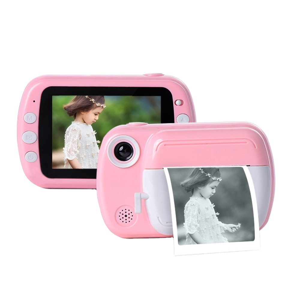 Children Camera Instant Print Camera For Kids 3.5 Inch 1080P HD Camera With Thermal Photo Paper Toys Camera For Birthday Gifts