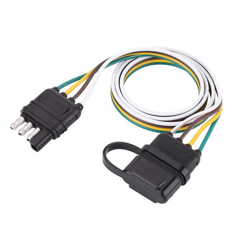 Крепеж для прицепа на возраст от 6 до 24V 4 Pin Плоский крепеж для прицепа, электро розетка разъем адаптера для караван фаркоп буксировочный тро...