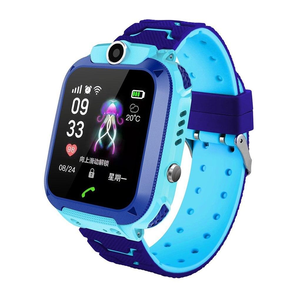 Relógio dos Desenhos Ip67 à Prova Crianças Relógios Antil-lost Smartver Dip67 Água Telefone Localização Rastreador Animados Relógio Inteligente Pulseira Q12 Sos