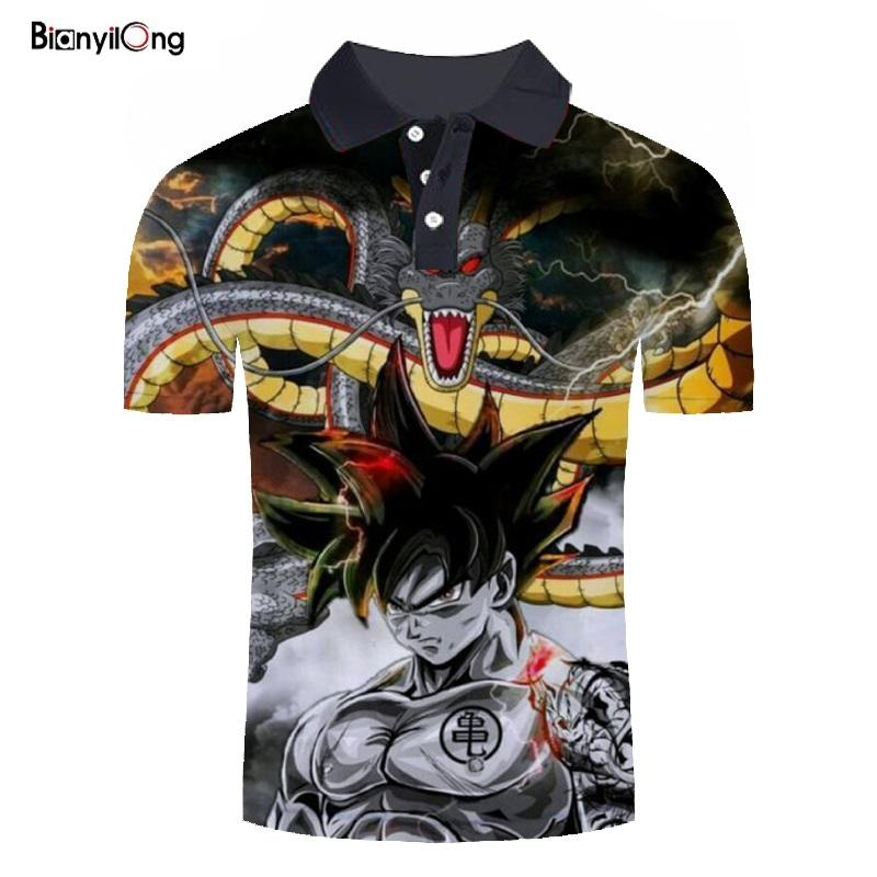 Polos con estampado 3D para hombre, polos de moda, Camiseta informal Masculina,...