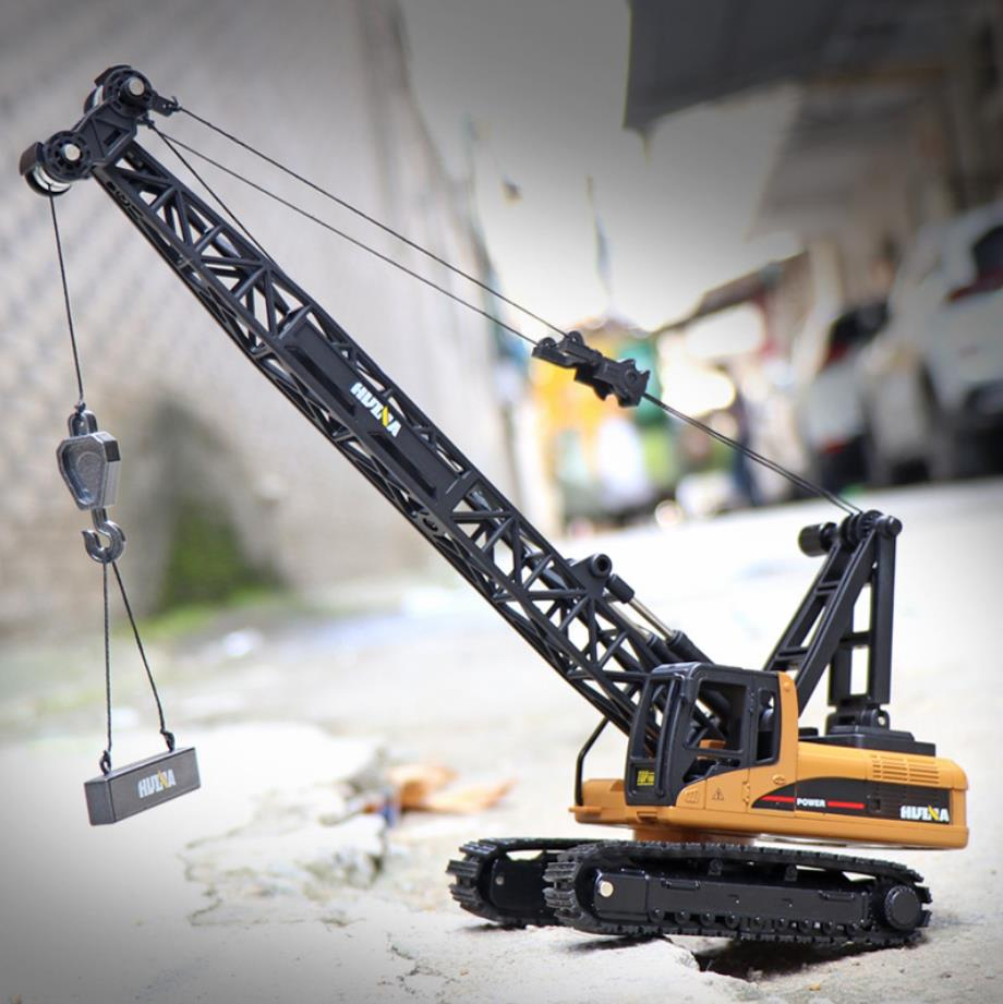 High simulation 1:50 scale city diecast Engineering vehicle metal Crawler crane model alloy toys collection for boys gifts kid model toys 1 50 scale engineering vehicle truck car model 140m3 motor grader high line series 85544 diecast model toys