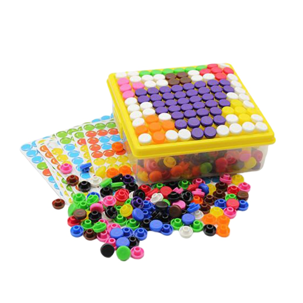 500pcs Mosaic DIY Science Pile up Toys Jigsaw Puzzle Game Educational