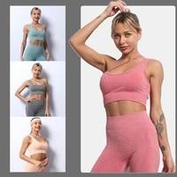 women breathable padded athletic gym running seamless fitness yoga vest sport sleep bra tops