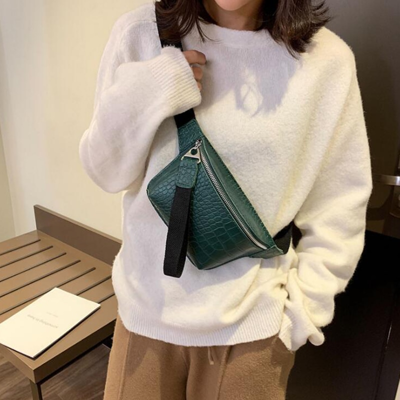 ACELURE Fashion New Waist Bag Female Belt  Gray Black Waterproof Chest Handbags Unisex Fanny Pack Ladies Waist Pack Belly Purse