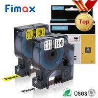 Fimax 1 Pcs 18490 18488 18489 18491 Compatible for Dymo Rhino Flexible Nylon Label Tape 1734524 DYMO RhinoPro IND Label Printers