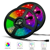 led strips bluetooth iuces led rgb 5050 smd 2835 waterproof flexible lamp tape ribbon diode dc12v 10m wifi led lights lighting