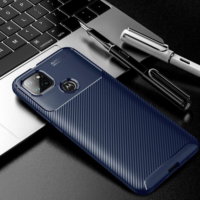 Funda de Teléfono de lujo para Moto G9 Power, carcasa de silicona...