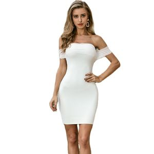Fashion Sexy Sleeveless O Neck Women Bandage Dress Bodycon Sexy Backless Midi Dresses Celebrity Party Club Vestido