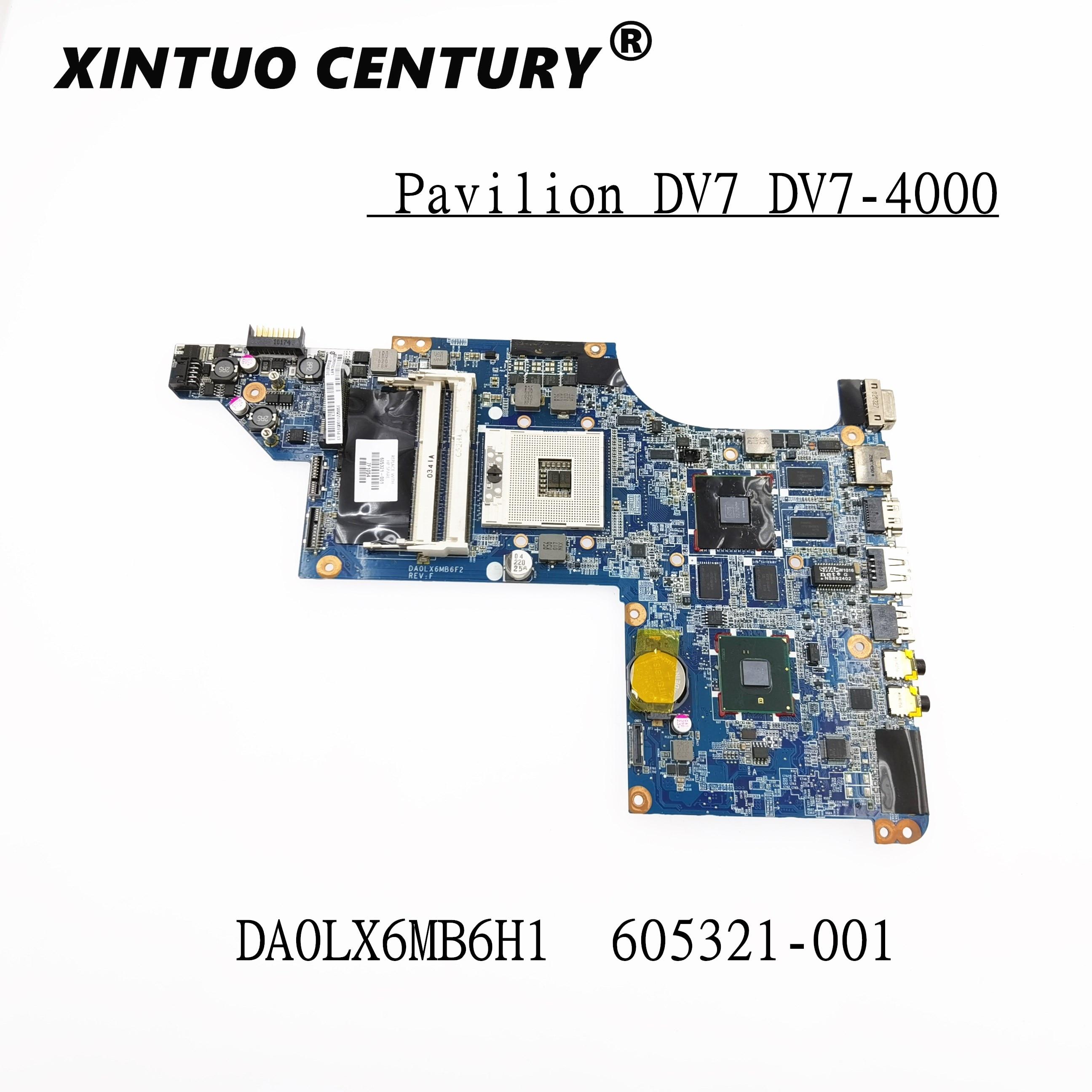 Original 605321-001 placa base para HP dv7-4000 DV7T mainrboard DA0LX6MB6G2 DA0LX6MB6F1 DA0LX6MB6H1...