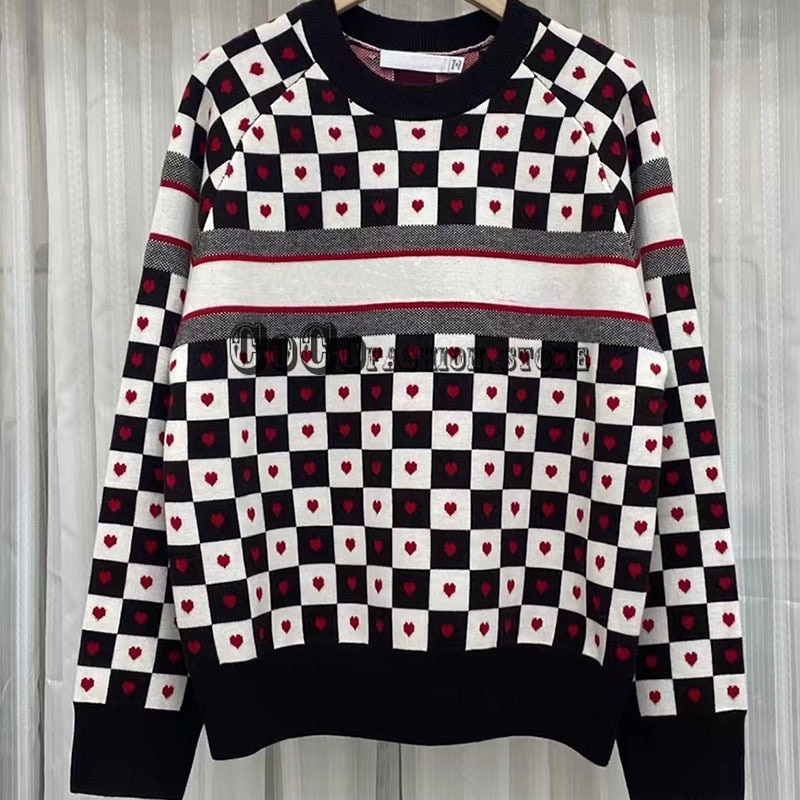 Luxury Design women fashion fall 21 sweater Letter jacquard logoed Crew neck long sleeve woman sweaters clothing casual pullover