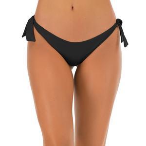 Triangle Swimwear Women's Swim Briefs Sexy Bikini Bottom Thongs Hipster Swimsuit Black Red
