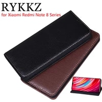 rykkz luxury leather flip cover for xiaomi redmi note 8 pro 6 53 mobile stand case for redmi note 8 leather phone case cover