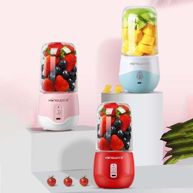 Электрическая соковыжималка, автоматический блендер, соковыжималка, портативная мини-соковыжималка с 4 резаками, зеркальный кухонный комб...