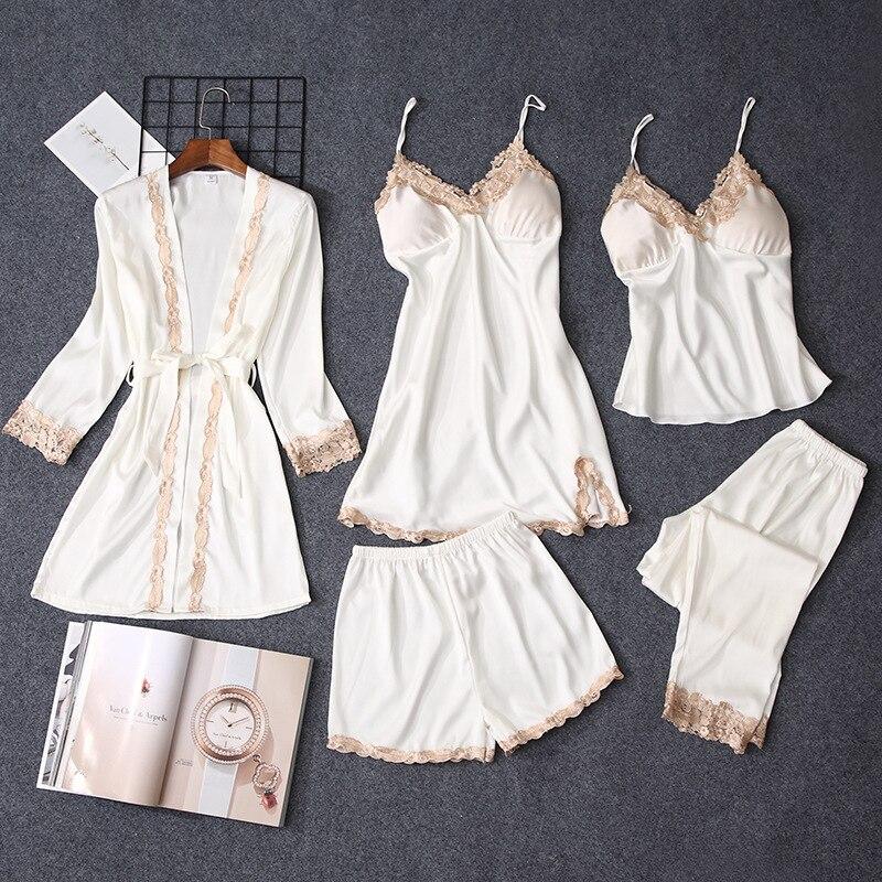 Pajama Sets Women Sleepwear Pajamas nightgown Silk like sleepwear Robes babydolls women's pajamas set Home clothes for women