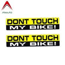Aliauto autocollant de voiture 2X15cm * 3cm   Autocollant de voiture, ne touche pas mon vélo, accessoires en PVC pour Jeep Renegade Turk Vw Renault Clio Saab