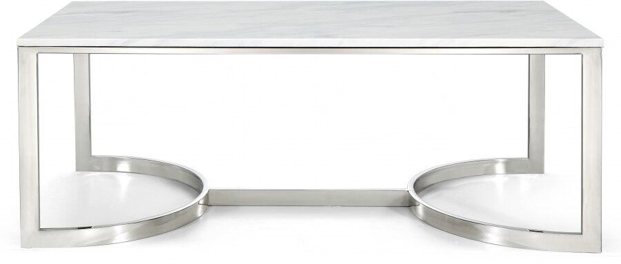 الحديث طاولة قهوة رخام الشاي مستطيلة التعشيش الجداول غرفة المعيشة أريكة طاولة ركن الفاخرة الفضة الفولاذ المقاوم للصدأ طاولة جانبية