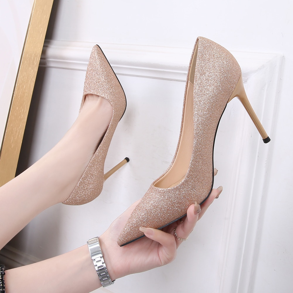 2021 Designer Sexy Women's Pumps Office Lady Stiletto High Heels Pointed Toe Fashion Wedding Dress P
