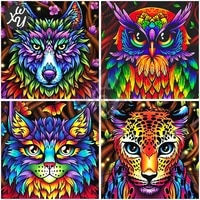 5d diamond art for adults colorful animals full drill mosaic tiger lion rhinestones accessories cross stitch kits for home decor