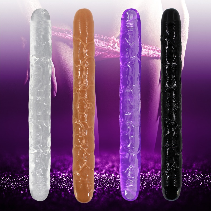 3 types long double ended heads dildo lesbian artificial penis female masturbation cock realistic dildo adult sex toys Long Double Ended Dildo Realistic Penis Flexible Dick Adult Sex Toys for Woman Lesbian Couples Vagina Anal Penetration Products