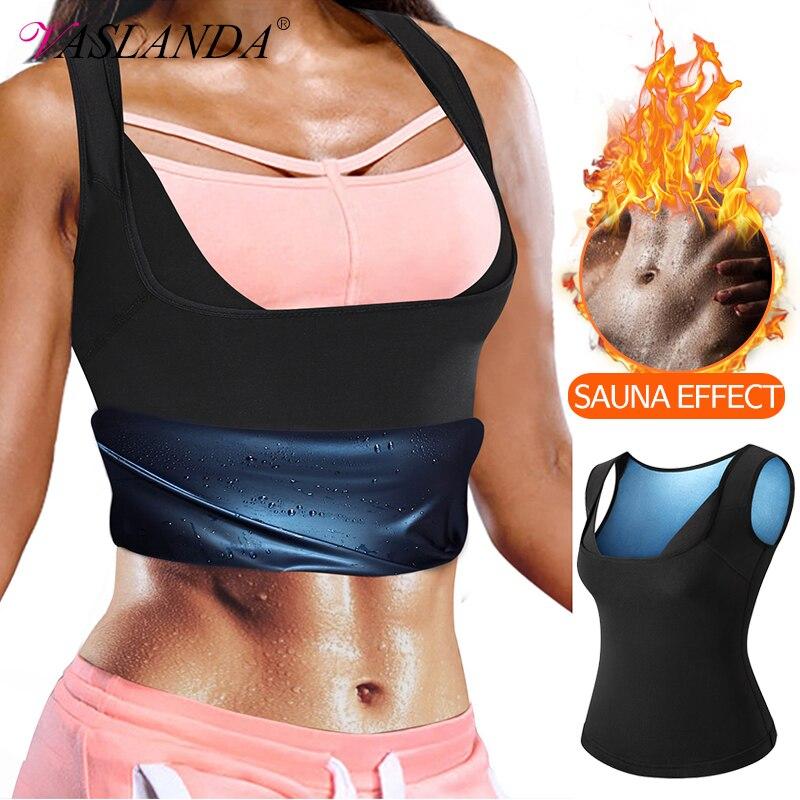 Chaleco de Sauna para el sudor, camiseta para perder peso, ropa interior adelgazante, entrenador de cintura, modeladores de cuerpo, tiras, camisetas sin mangas para entrenamiento, ropa modeladora