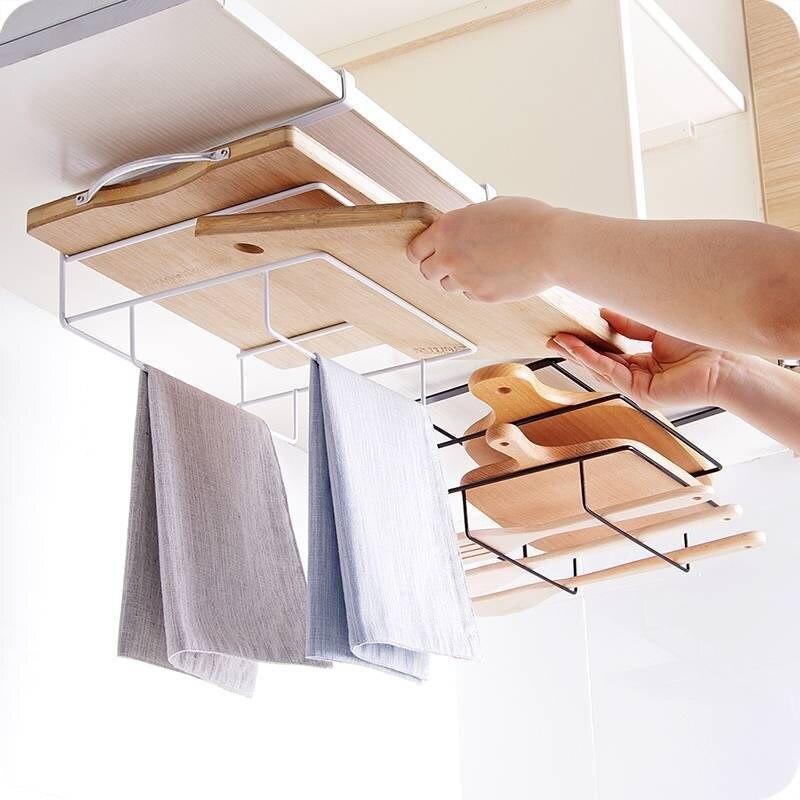 Другое домашняя кухонная для хранения полки разделочная доска стенд блюдо тряпка стенд шкаф подвесные полки Железный кухонный Органайзер