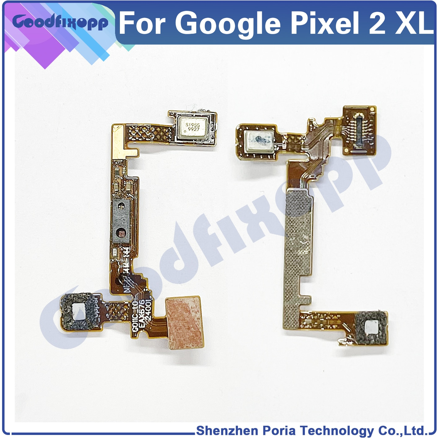 For Google Pixel 2 XL 2XL XL2 Proximity Sensor Top Microphone Noise Reduction Mic On Motherboard Flex Cable Replacement