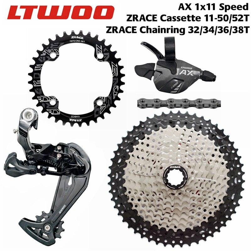 Kit de cambio de velocidad LTWOO bicicleta AX11 11 + cambio de marchas trasero + 50T 52T Cassette ZRACE/cadena + grupo de cadenas SUMC S11, para Eagle 11