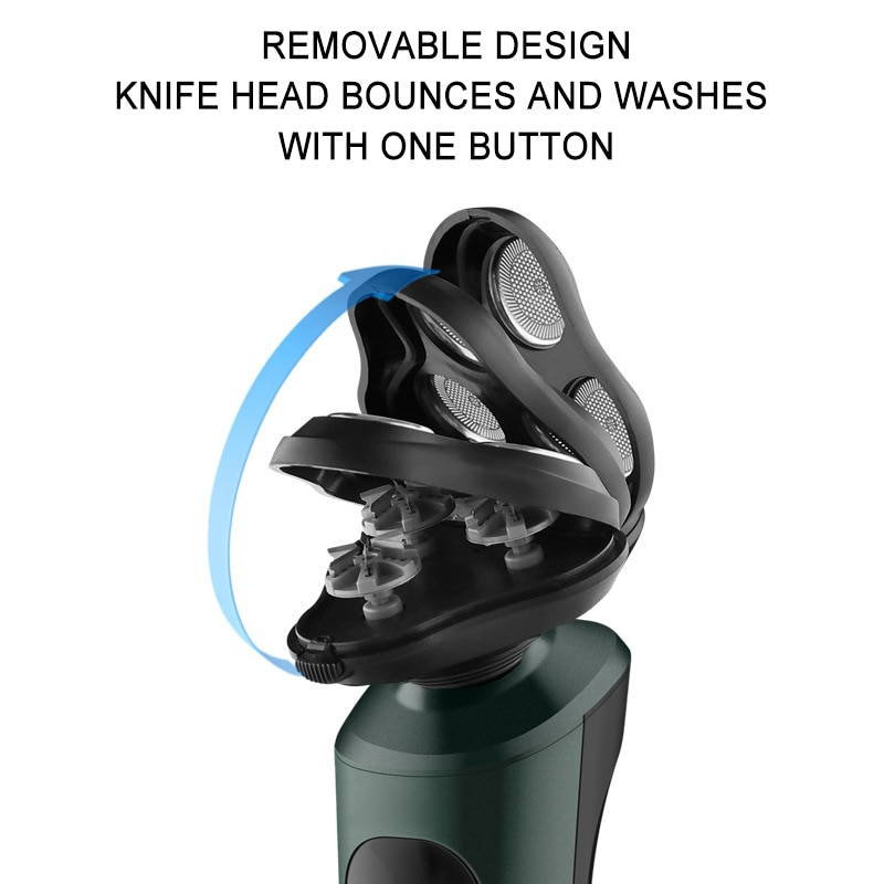 Electric Shaver Wireless USB Rechargeable Men Electric Beard Trimmer Home Shaving Machine Wet-Dry Dual Use Washable Razor enlarge