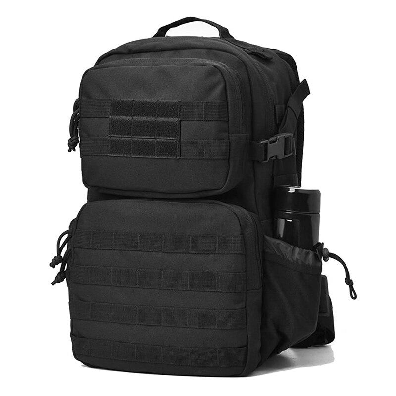 تكتيك حقيبة ظهر الجيش حقيبة ظهر للهجوم الظهر للرياضة في الهواء الطلق السفر المشي لمسافات طويلة التخييم مدرسة Daypack الأسود