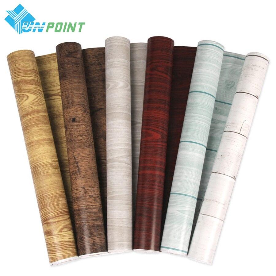 Papel pintado autoadhesivo de grano de madera de 5 /10M, pegatinas de vinilo impermeables para muebles antiguos, puerta de madera, armario, papeles de pared de PVC