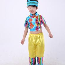 chinese national dance costumes forchildren stage & dance wear festive clothing kidergarten minority