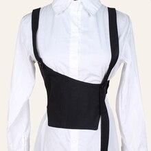 2020 nueva prenda cinturón de faja ancha con tirantes personalidad mujer punk todo combinar chaleco cinturón