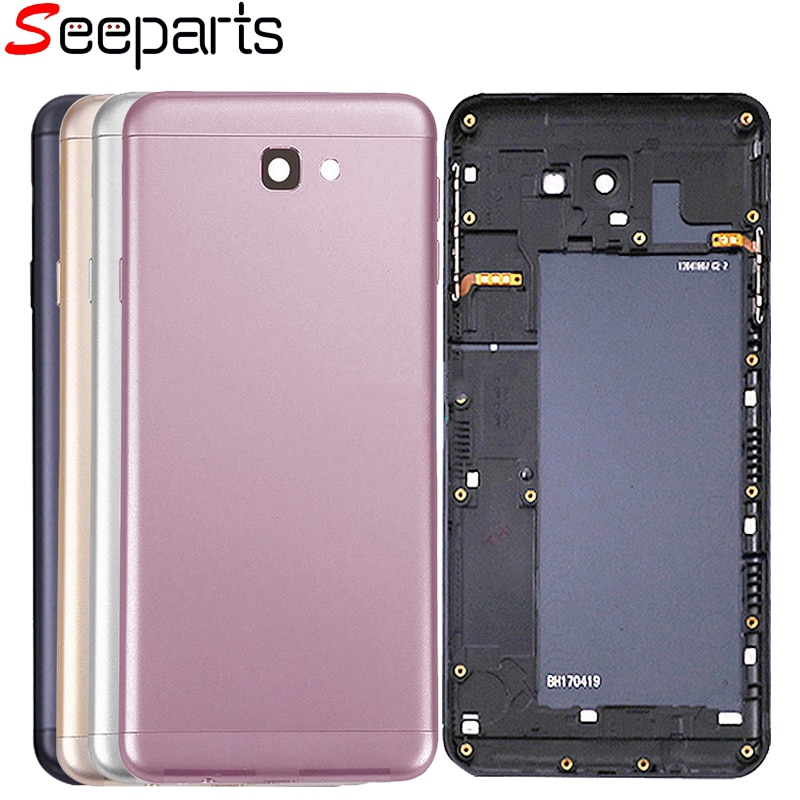 For Samsung Galaxy J7 Prime Back Battery Cover G610 On7 2016 Rear Housing Case Replacement For SAMSUNG J7 Prime Battery Cover