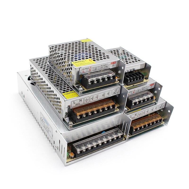 100w 12v mini power supply 5v 20a smps ac to dc 12v 8a power supply for led screen 5v 12v 24v 4 2a led mini power supply Power Supply 5V 12V 24V 36V LED Driver Transformer 220V to 12V Power Adapter 1A 2A 3A 5A 8A 10A 15A 20A 30A For LED Strip cctv