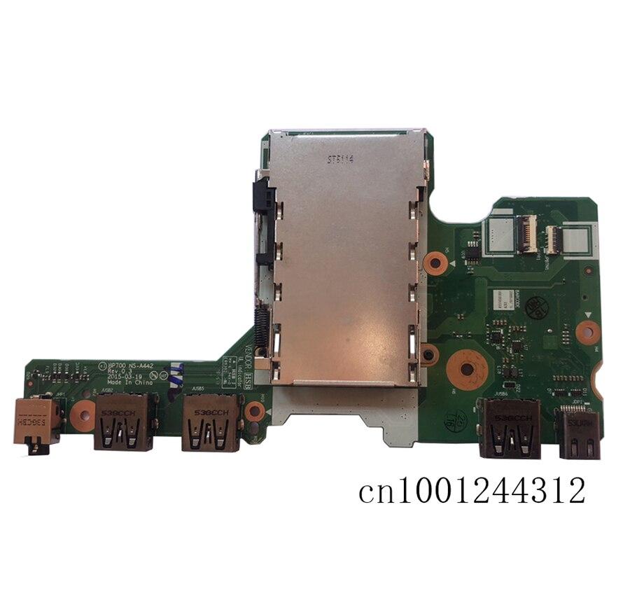 جديد الأصلي لينوفو ثينك باد P70 P71 USB الصوت DP SD ميناء بطاقة فرعية ورق مقوى NS-A442 00NY309
