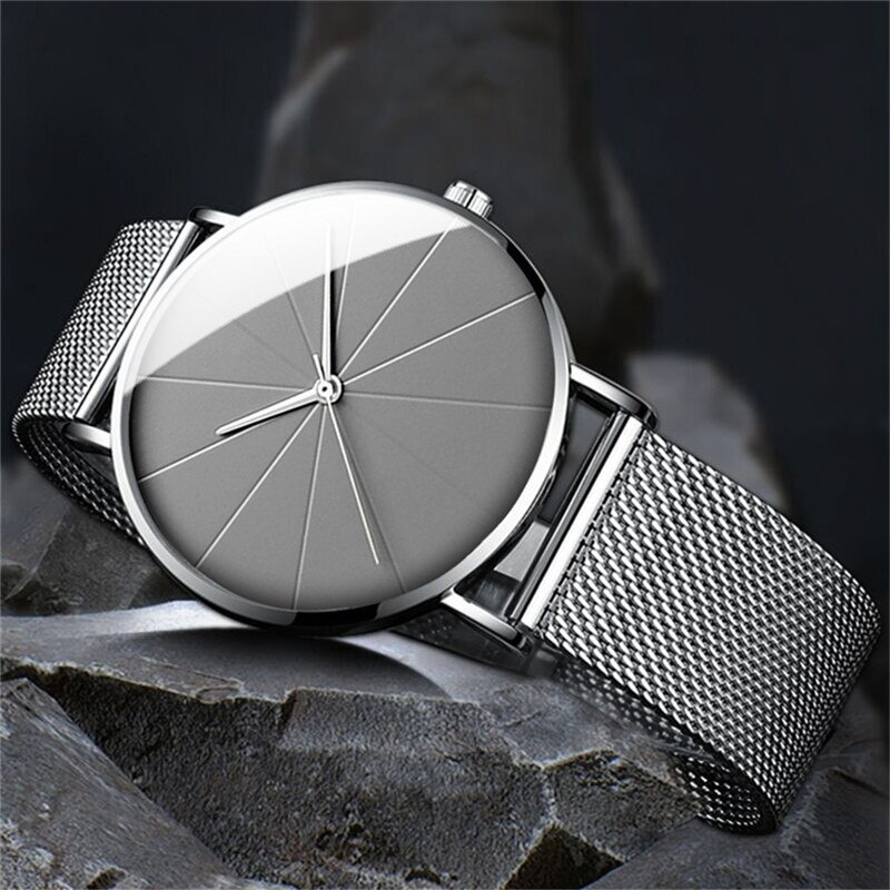 Casual Men Couple Stainless Steel Simple Luxury Watch Gift