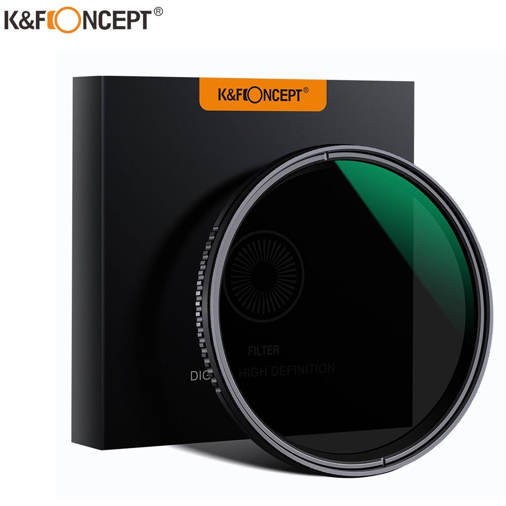 K & F مفهوم ND8-ND2000 ND تصفية كاميرا ينس متغير الكثافة المحايدة متعددة مقاومة طلاء 49 مللي متر 52 مللي متر 58 مللي متر 62 مللي متر 67 مللي متر 77 مللي متر
