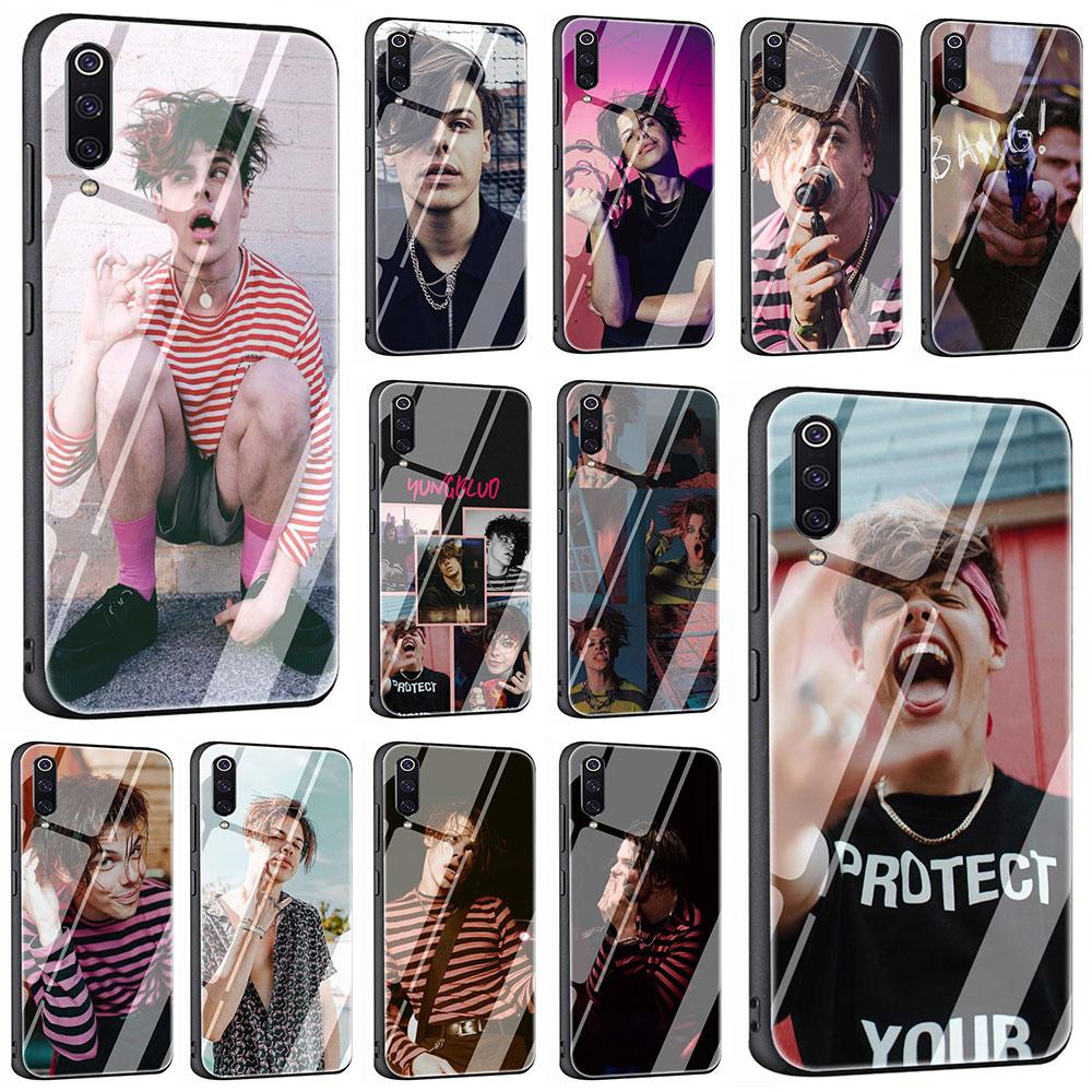 EWAU Yungblud funda de vidrio templado para teléfono para Xiaomi 5X6X8 Lite 9 A1 A2 F1 Remdi 4X 6A Nota 5 5 5 6 6 7 pro