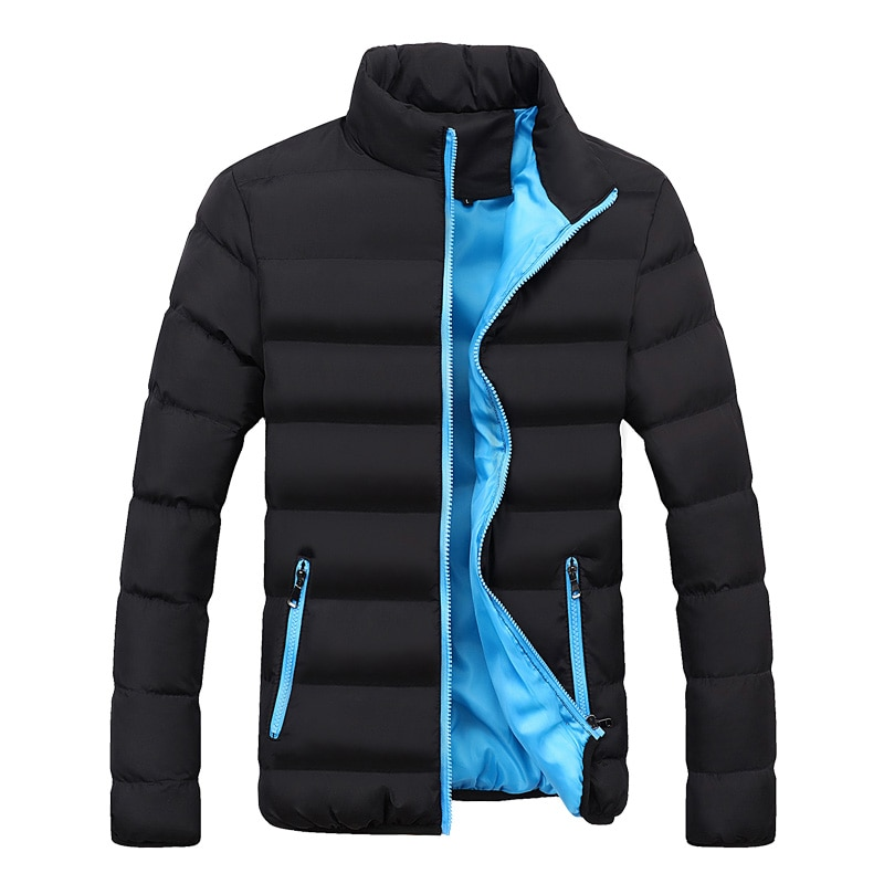 Зимняя однотонная мужская стеганая куртка, толстая стеганая куртка, новая зимняя стеганая куртка, короткая стеганая куртка для мужчин