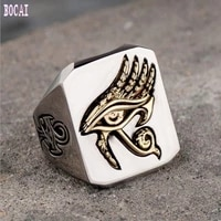 original design explosion models horus eye ring titanium steel hot sale network red retro hip hop jewelry