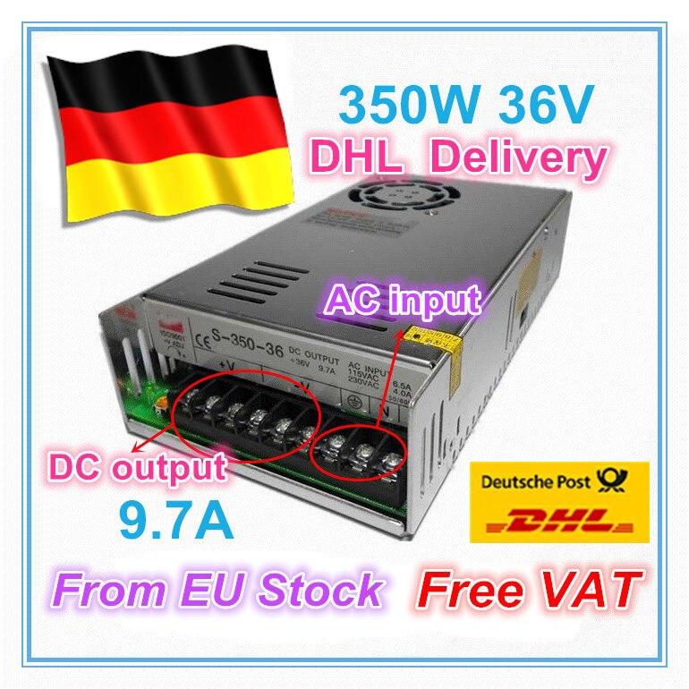 ¡Fuente de alimentación del interruptor 350W 36V 9.7A! Fresadora CNC, suministro de Potencia de salida única, 350 W, 36 V, molino de espuma, grabado láser de Plasma