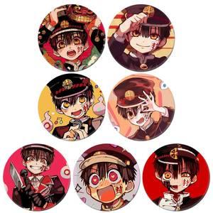 Japan Anime Jibaku Shounen Hanako-kun Nene Yashiro Teru Minamoto Hanako Cosplay Bedge Cartoon Bags Badge Button Brooch Pin