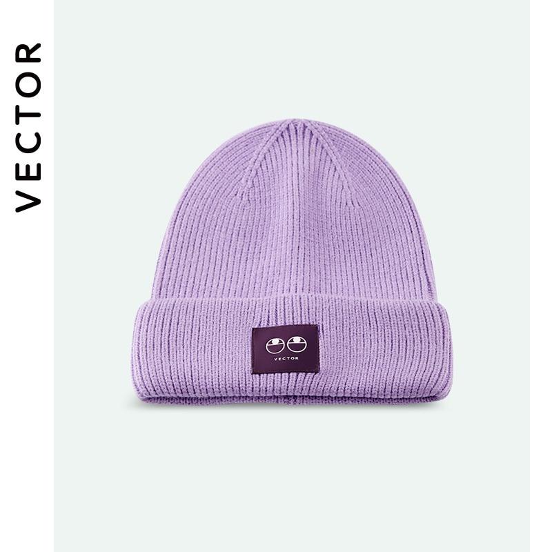 Векторные зимние шапки для женщин, Новые Вязаные шапки, флуоресцентные шапки для девочек, осенние женские шапки бини, теплые шапки, Женская ...